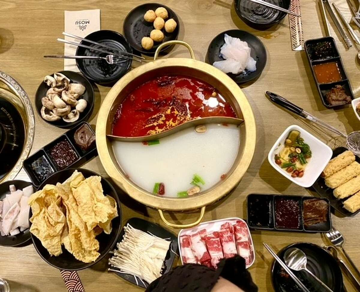 The hot pot options at MOSU on Wolf Road in Colonie can come in a variety of proteins and meats.