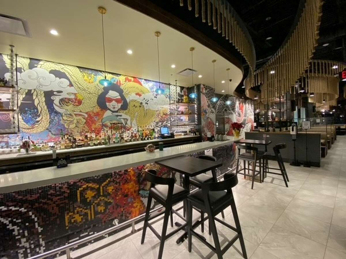 Artwork and modern, Asian-inspired design can be seen inside MOSU in Colonie.