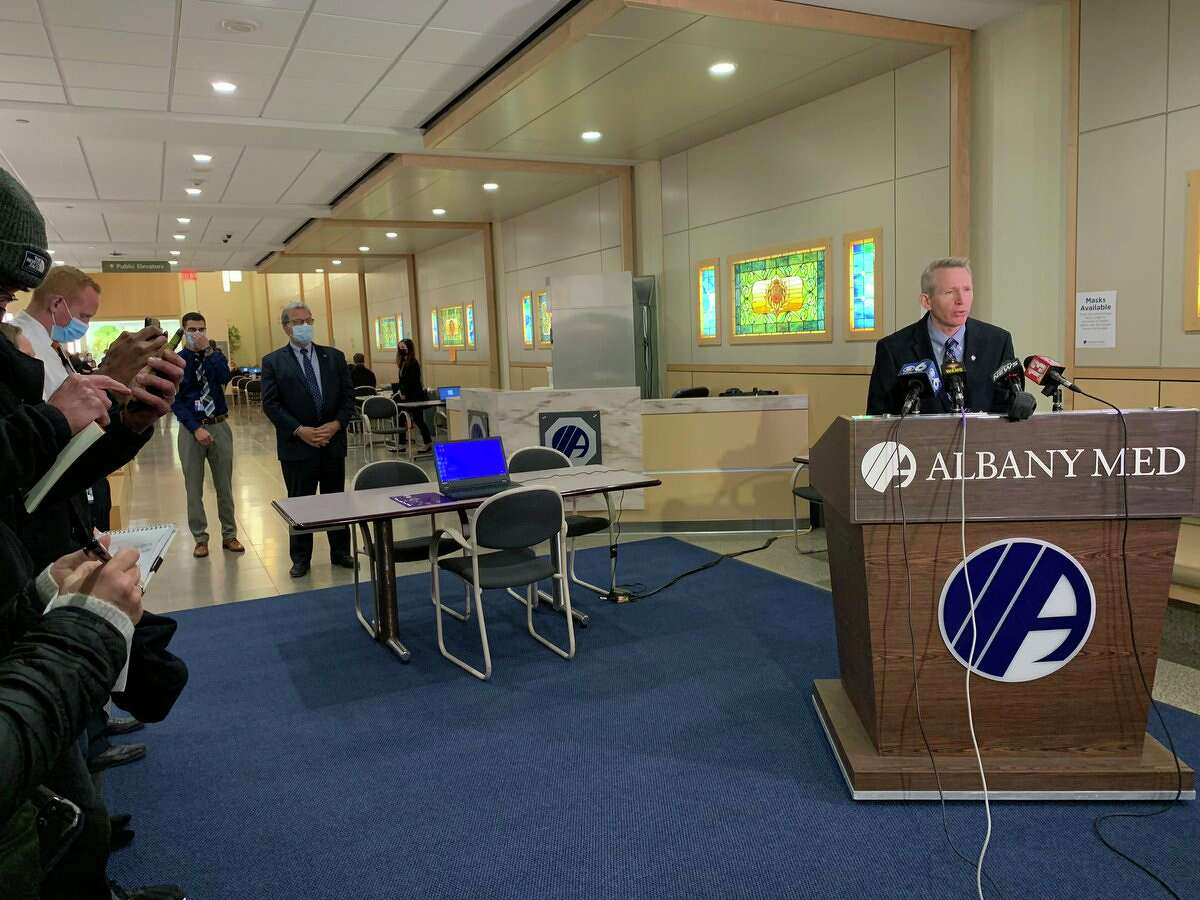 Albany Medical Center President and CEO Dr. Dennis P. McKenna discusses the coronavirusvaccination as the hospital prepared Monday to inoculate the first members of its medical staff.