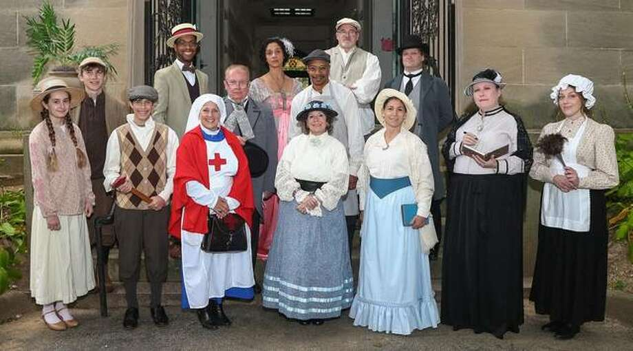 Vintage Voices portrayers gathered for a group photo before this year's event in October. A record number of people participated in this year's cemetery tour.