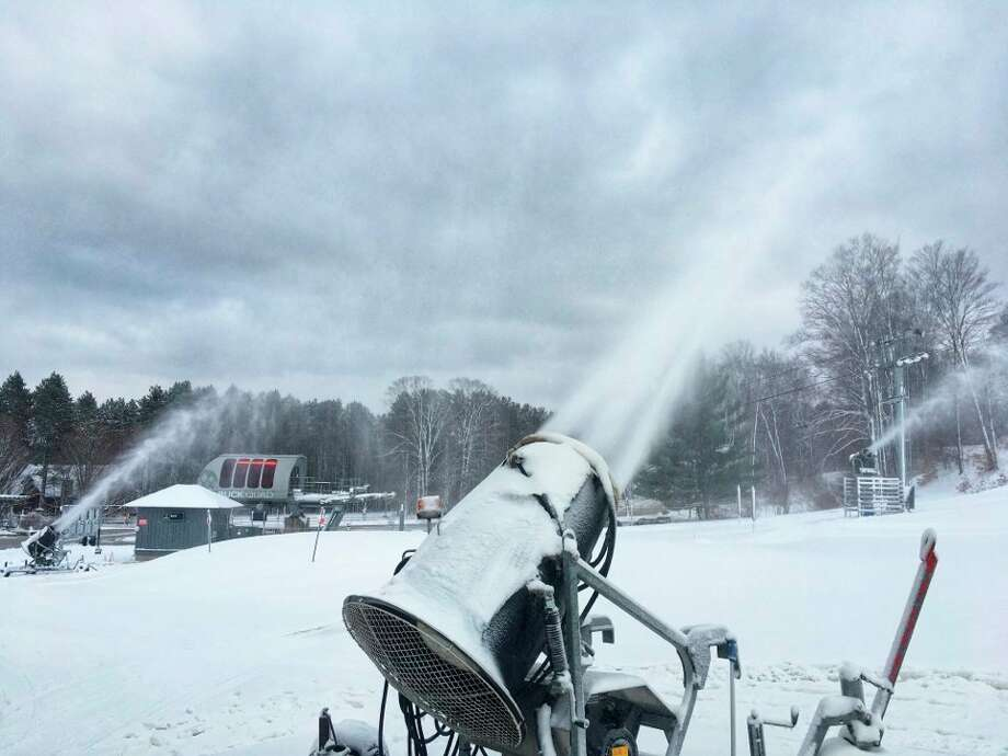 Snowmaking has commenced at Crystal Mountain, in preparation for opening weekend. (Courtesy photo)