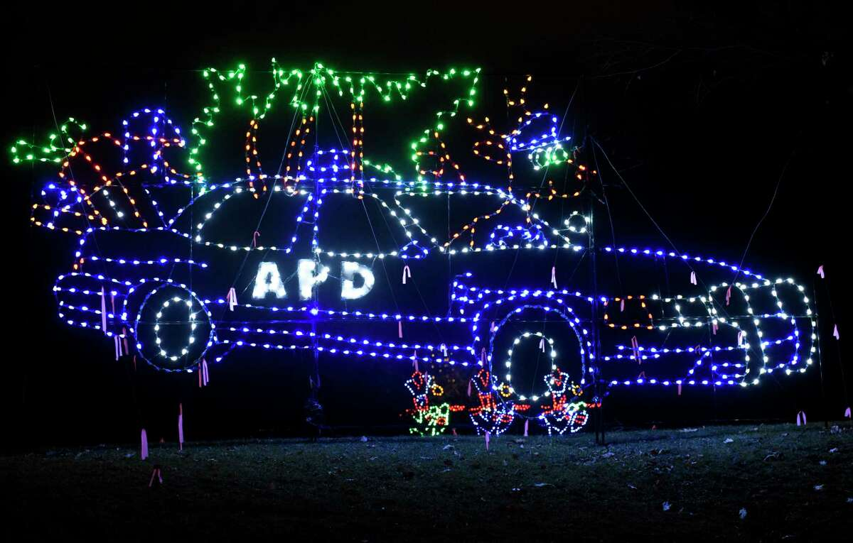 A display at the Capital Holiday Lights in Washington Park on Thursday, Dec. 10, 2020 in Albany. Money raised by Holiday Lights comprises most of Albany Police Athletic League's budget and helps pay for mentoring, daycare, Little League and other vital programs.