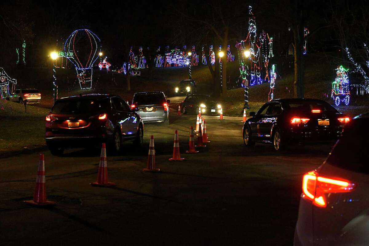 FILE. Letter writer notes the emissions of cars driving slowly past displays at the Capital Holiday Lights in Washington Park are just one issue with the event being held in the park annually. (Lori Van Buren/Times Union)
