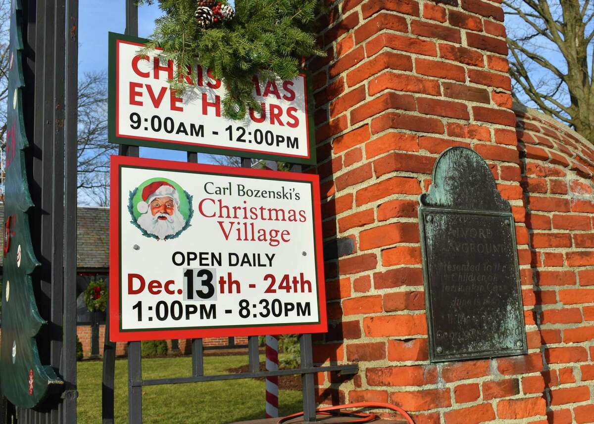Torrington's Christmas Village opened Sunday and is open daily until Christmas Eve. Because of the COVID-19 pandemic, all visitors had to make advance reservations.