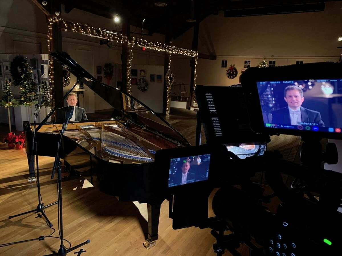 Virtuoso pianist Andrew Armstrong performs for an upcoming NCTV79, Channel 79, program with the New England Academy of Dance, and the New Canaan High School (NCHS) Madrigals.