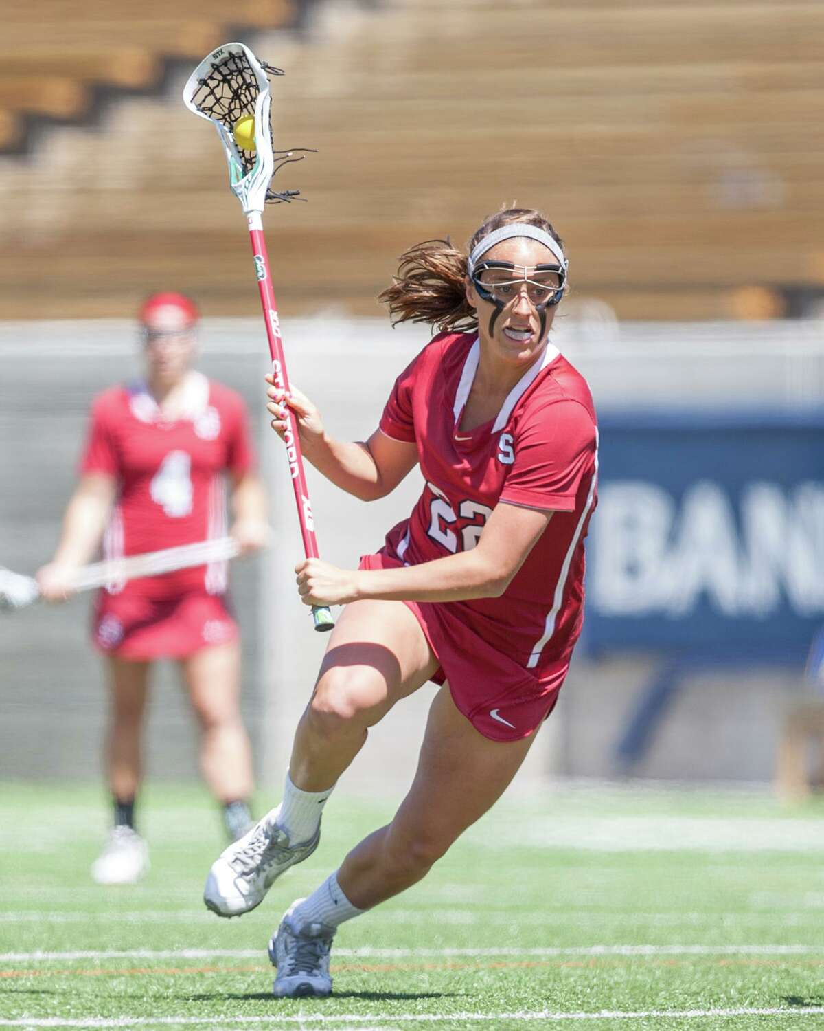 Darien's Dillon Schoen in action during her senior season with the Stanford women's lacrosse team.