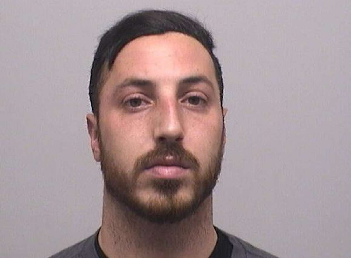 Tyler Burchard, 29, of Stamford, was charged with reckless endangerment and improper storage of a firearm after he reported that his pistol had been stolen out of his unlocked car.