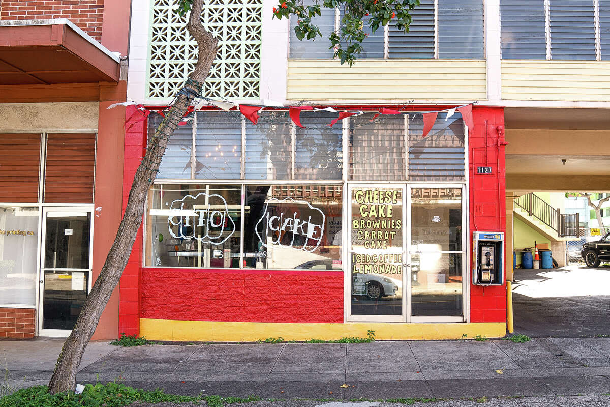 Otto Cake's distinctive storefront is located on 12th Avenue in Honolulu's Kaimuki neighborhood.
