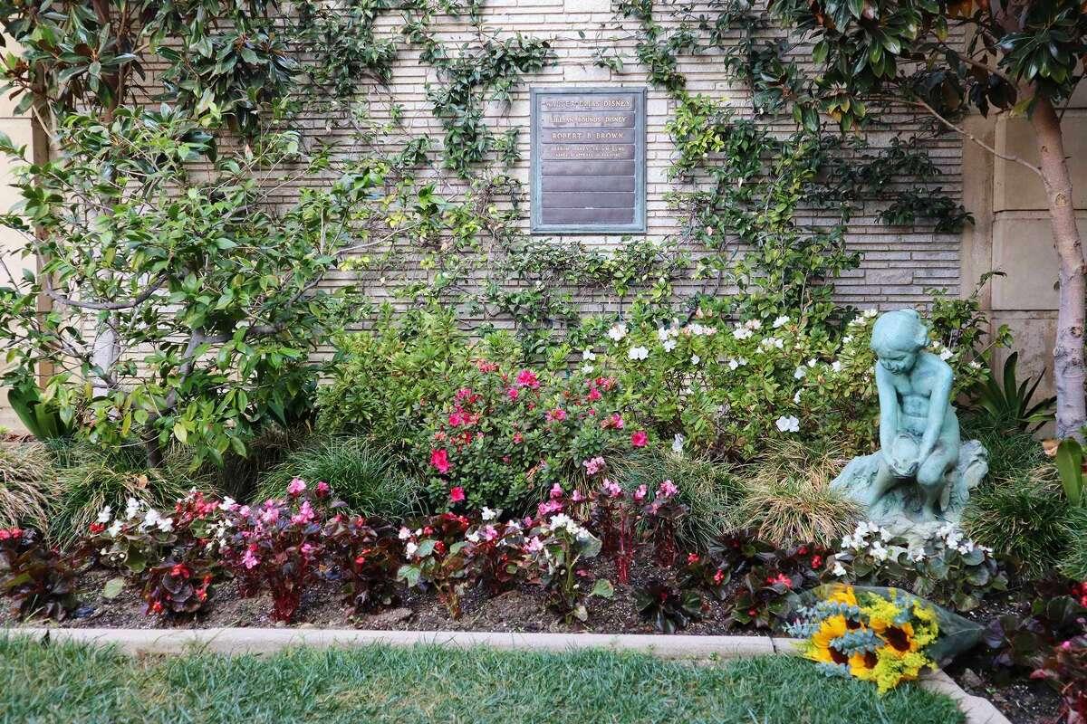 Walt Disney's memorial garden in Glendale, California