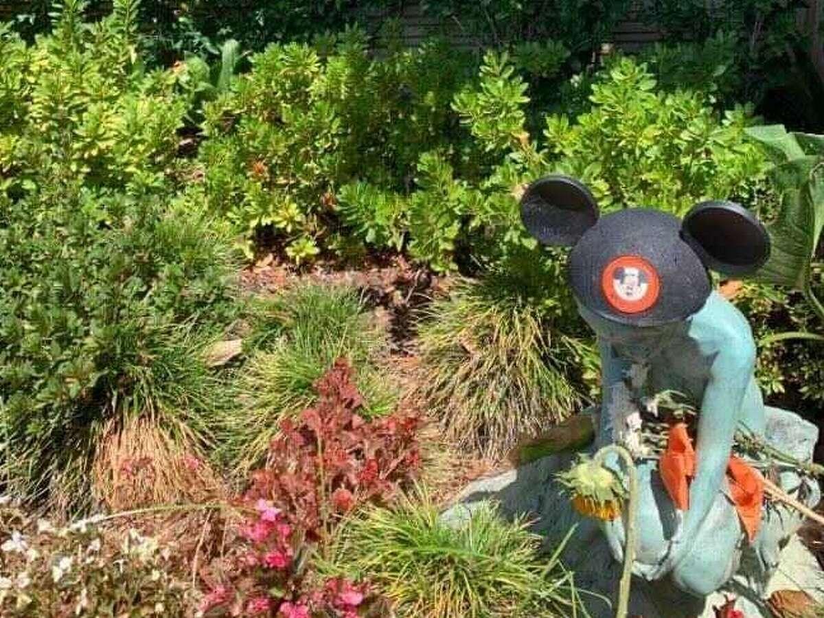 A Mouseketeer hat left behind at Disney's memorial
