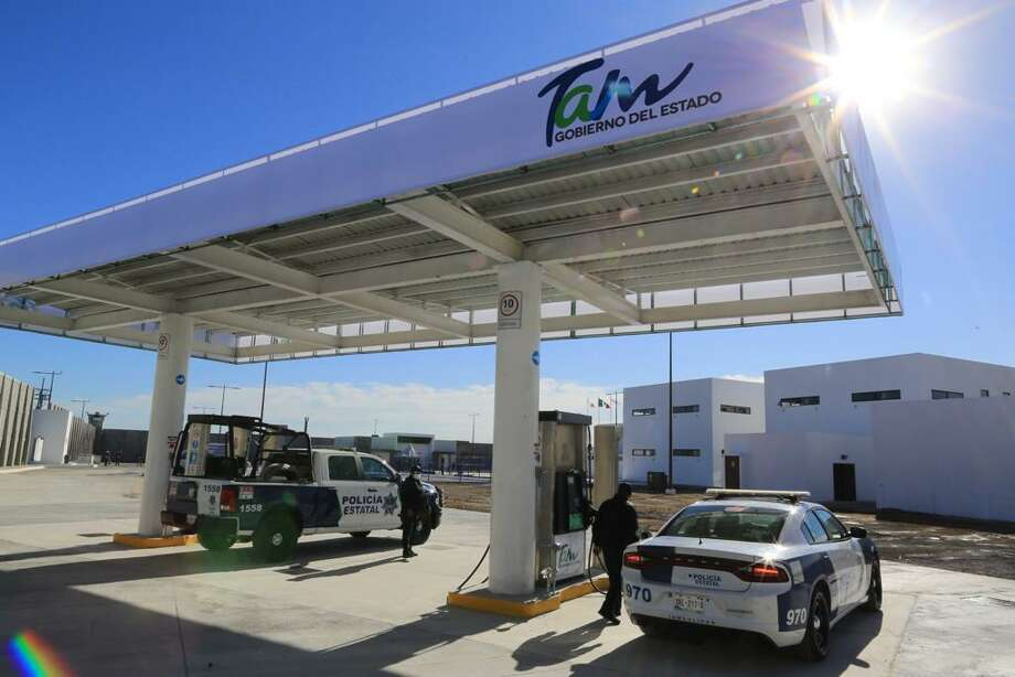 The Regional Public Safety Complex of Nuevo Laredo comes with its own gas pumps. Tamaulipas officials inaugurated the complex on Monday. Photo: Courtesy Photo /Government Of Tamaulipas
