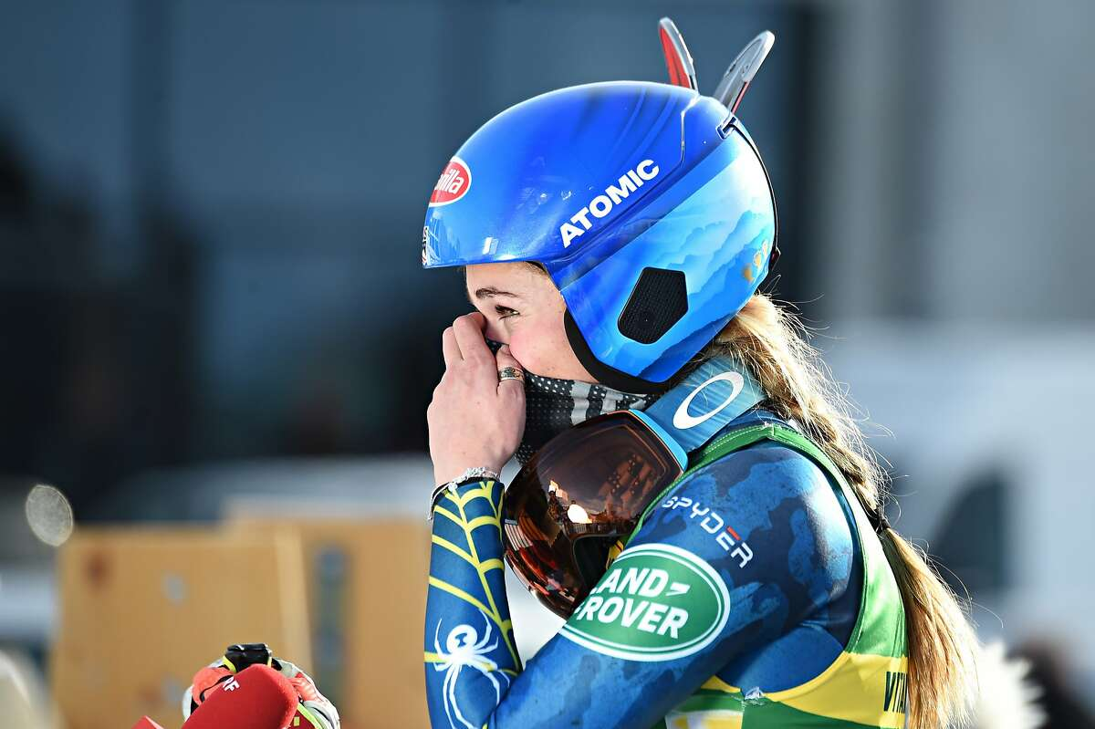 Mikaela Shiffrin takes 1st place during the Audi FIS Alpine Ski World Cup Giant Slalom on Monday in Courchevel, France.