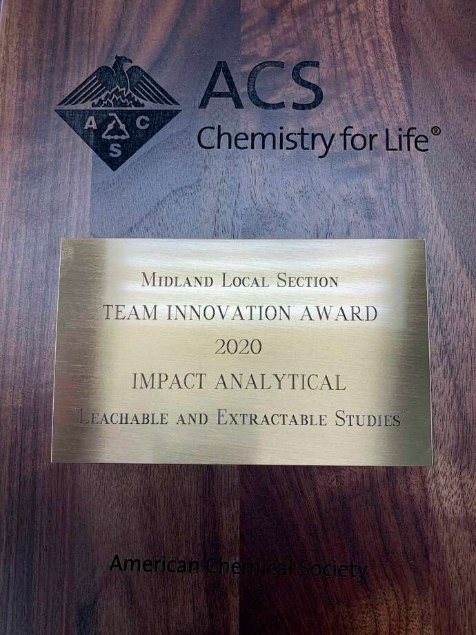 Impact Analytical was the recipient of the Midland Local Section Team Innovation Award this year. (Photo provided)