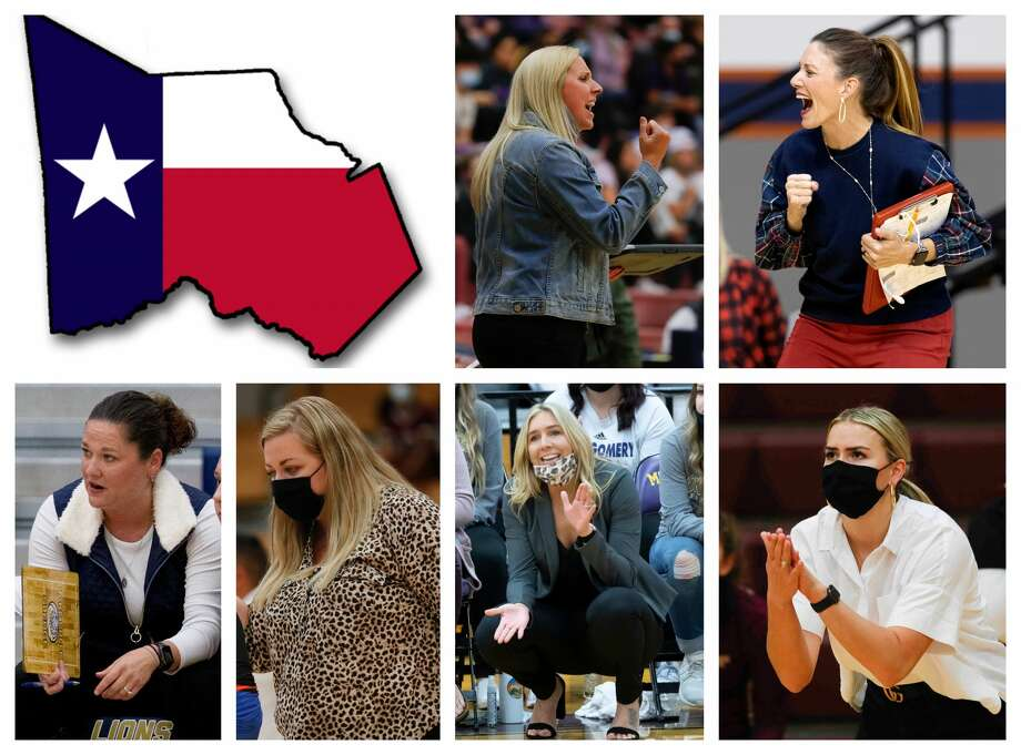 Ashley Farris, Terri Wade, Tommie Lynne Sledge, Morgan Rogers, Kayli Kerr and Jordan McArdle are The Courier's nominees for All-Montgomery County Volleyball Coach of the Year. Photo: Staff File Photos
