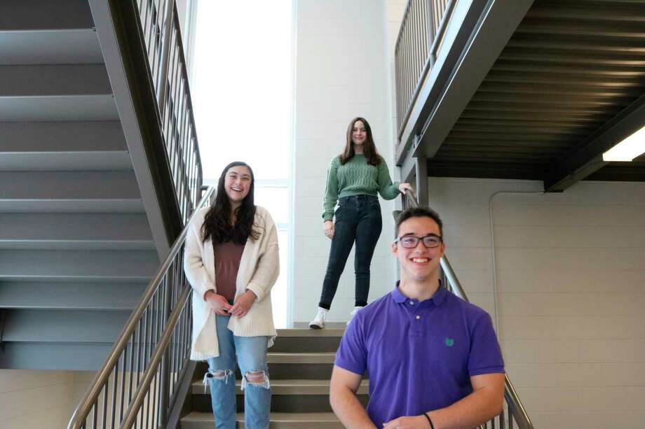Three students from area schools are working as student interns for the Remember Benzie Project oral history project. From the top down are Leola Richard, Olivia Bailey and Liam Jones. (Courtesy Photo)