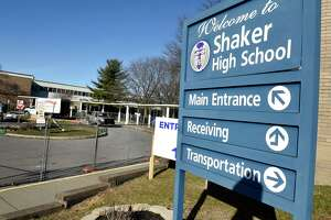 Exterior of Shaker High School on Tuesday, Dec. 15, 2020 in Colonie, N.Y. More districts announced they are shifting entirely to remote learning until January. (Lori Van Buren/Times Union)