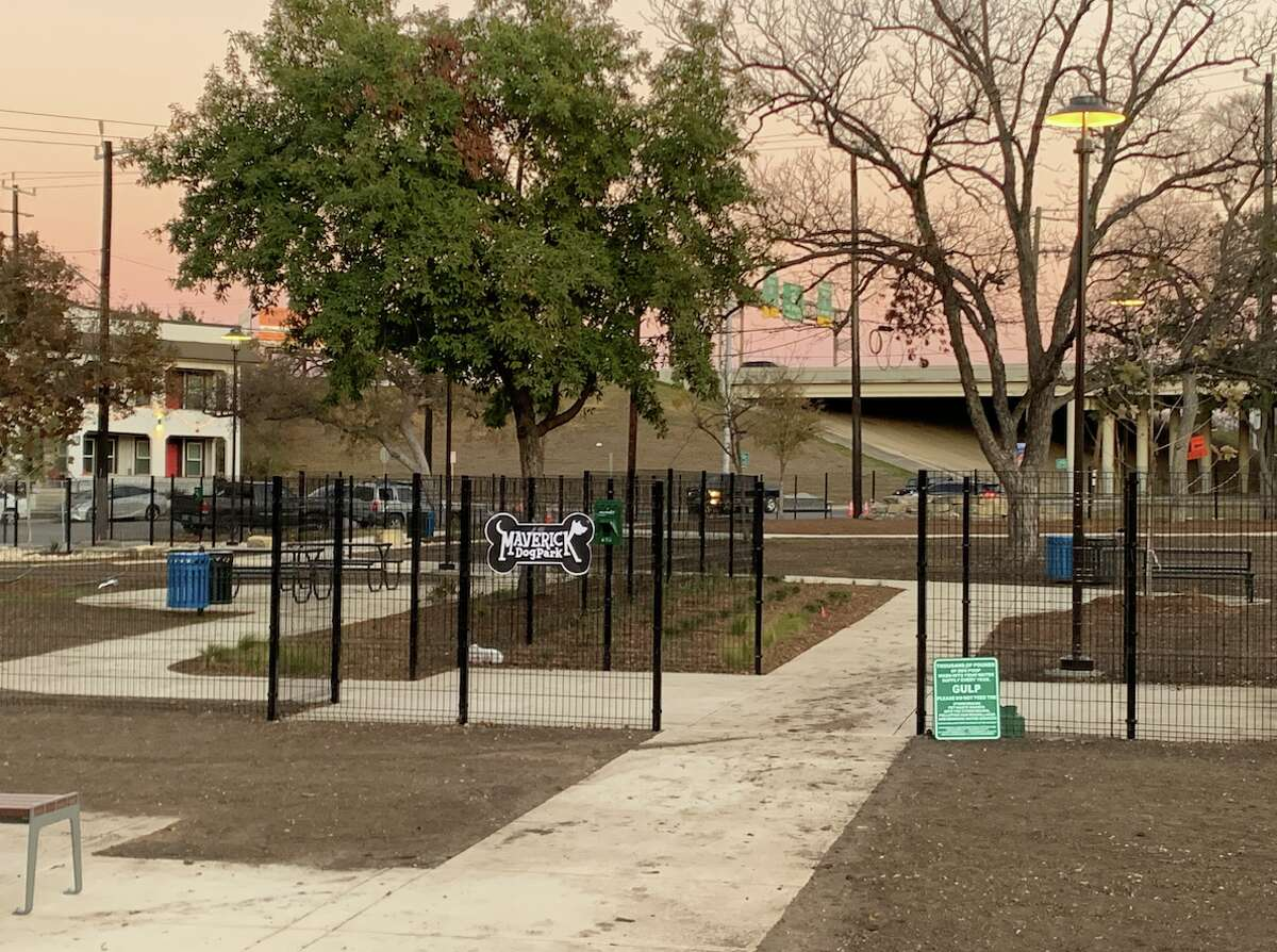 An off-leash dog park with areas for small and large dogs is currently under construction at Maverick Park.