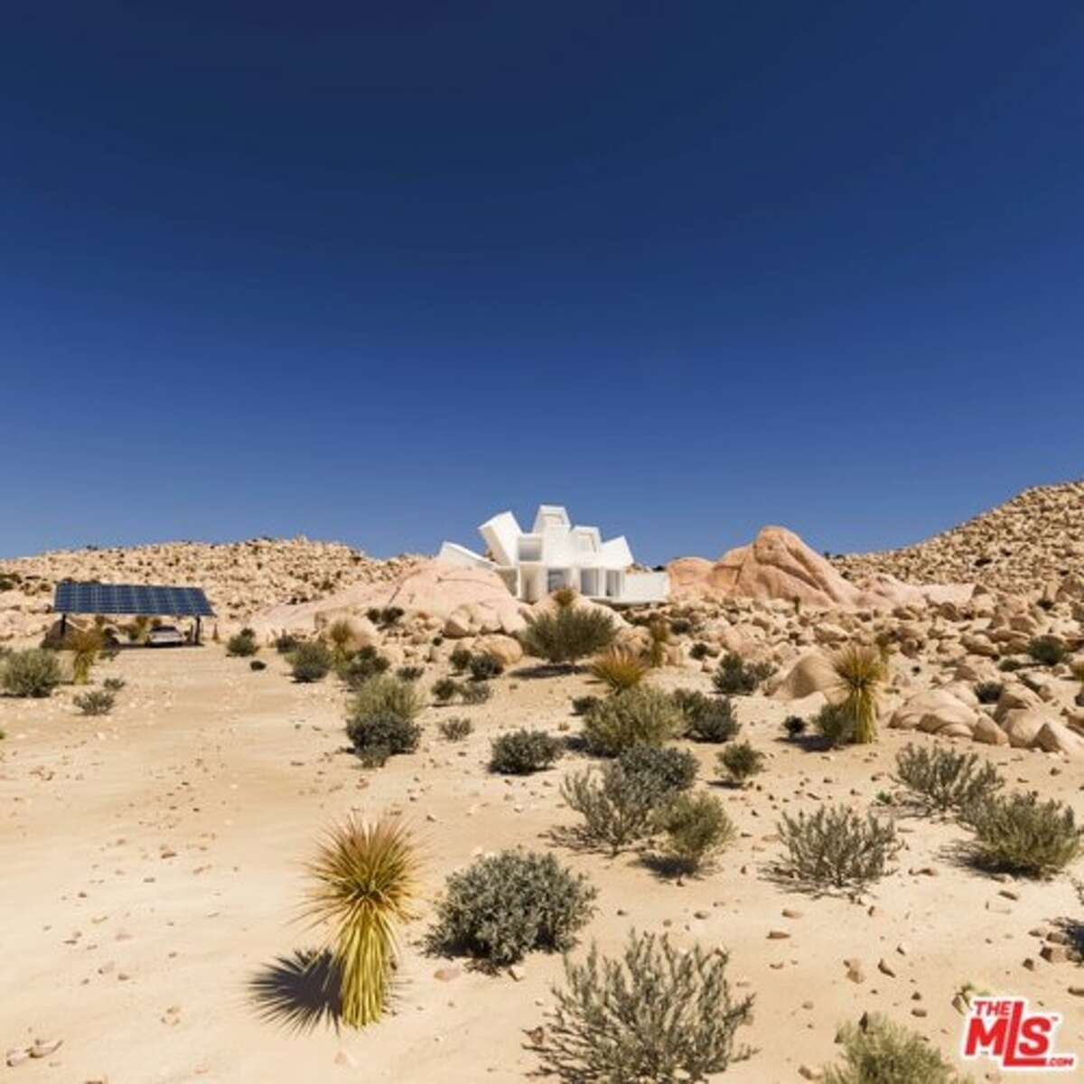 The home's address is Zero Wagon Wheel Road, which is less than a mile from Joshua Tree National Park on 22.5 acres of land.