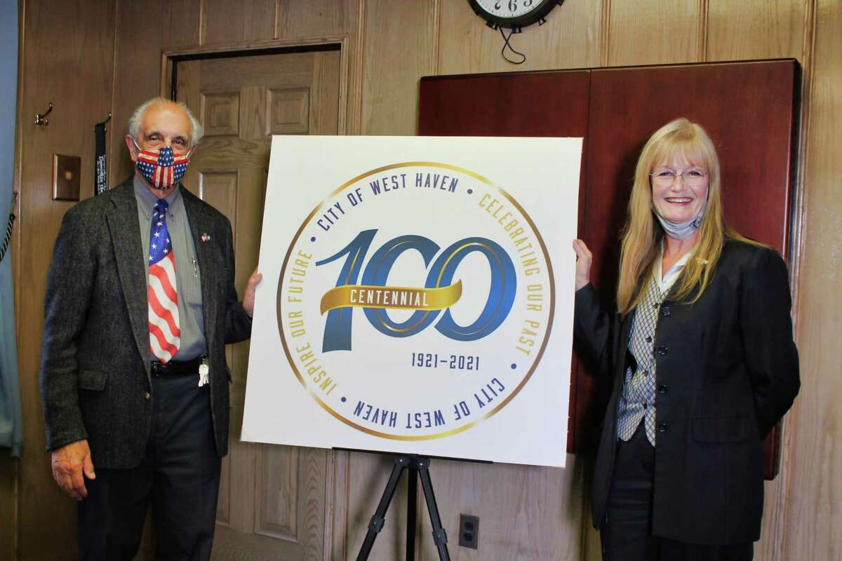 Mayor Nancy R. Rossi on Dec. 8 revealed the logo for West Haven's 100th anniversary next year.