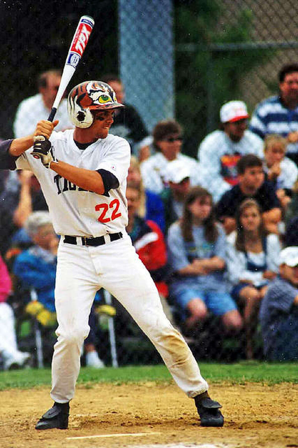 Edwardsville's Matt Evers waits for a pitch during his senior season in 1998.