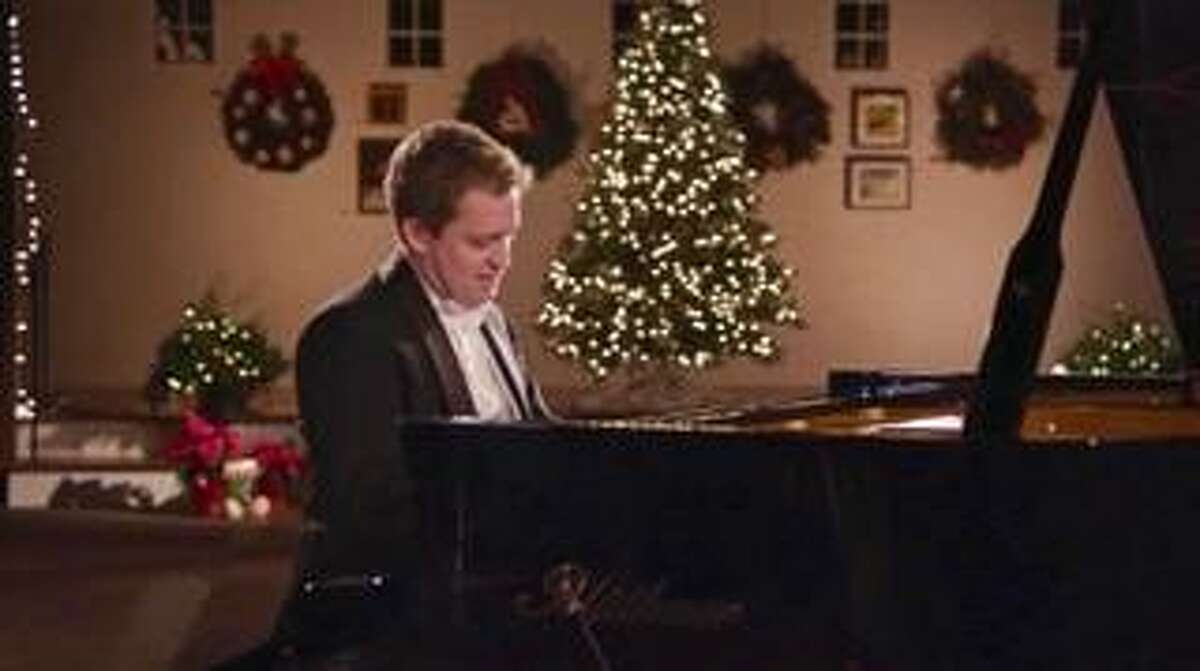 Virtuoso pianist Andrew Armstrrong makes a video for New Canaan's Christmas Eve video that will be shown on the town's public access television station, NCTV79, Channel 79, beginning at 6 p.m. Christmas Eve, and will repeat throughout the holidays on NCTV79's YouTube channel YouTube.com/NCTV79.