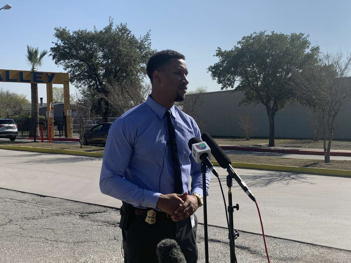 A male teenager is in critical condition after a family member accidentally shot him Tuesday, San Antonio police said. At around 11:35 a.m., officers responded to calls of a shooting at the Garden Valley Mobile Homes in the 8600 block of Zarzamora Street on the South Side. In the photo, SAPD spokesman Sgt. Matthew Brown speaks to the media about the incident.