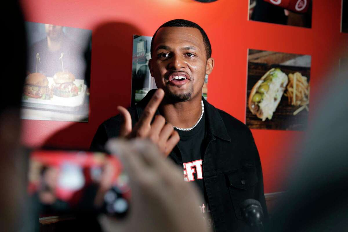 Texans quarterback Deshaun Watson and teammates were fined for violating the NFL's COVID-19 protocols at his restaurant's grand opening last week.