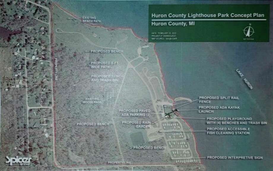 The layout of the proposed improvements to Lighthouse Park. (Tribune File Photo)