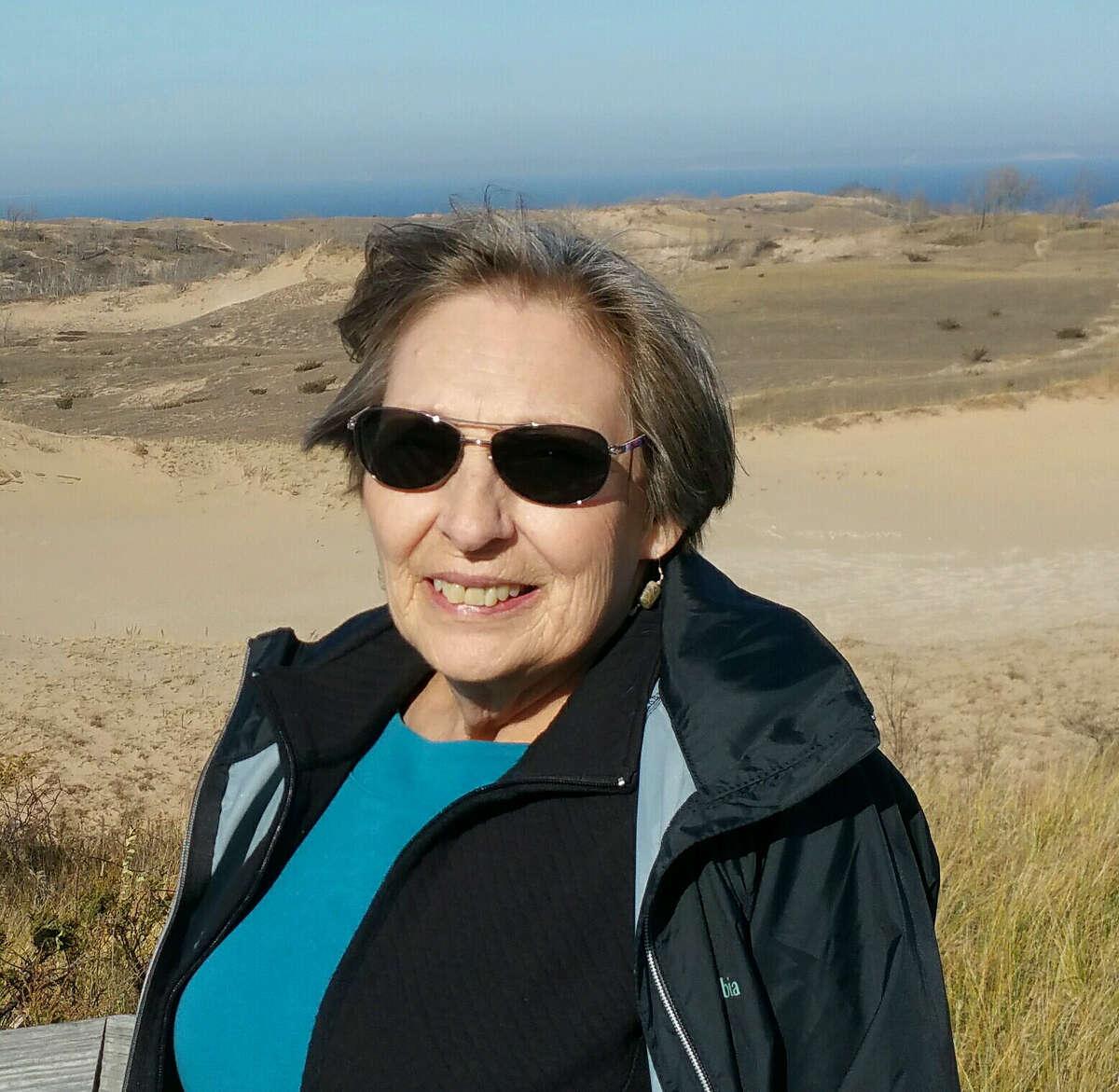 Carol Kozelka is shown at Sleeping Bear Dunes in November.