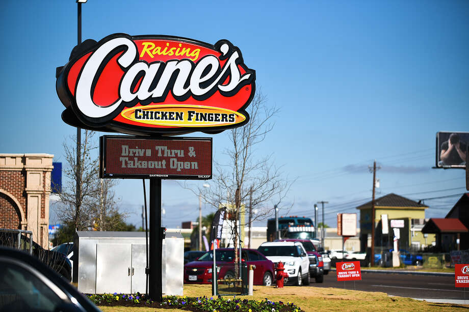 Raising Cane's Chicken Fingers officially opens in Laredo, Tuesday, Dec. 15, 2020, at the corner of McPherson Road and Hillside Road. The restaurant's line stretched as far as the McPherson Skate Park. Photo: Danny Zaragoza/Laredo Morning Times