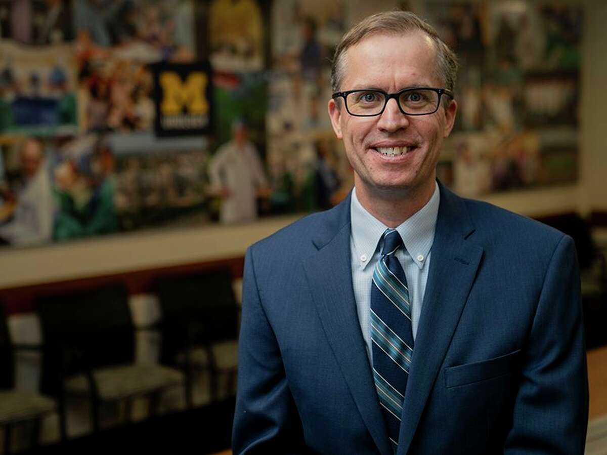 Dr. David Miller, a Midland native, will be the new president of the University of Michigan Health System on Jan. 1, 2021 after approval earlier this month from the U-M Board of Regents. (Photo/Michigan Medicine)