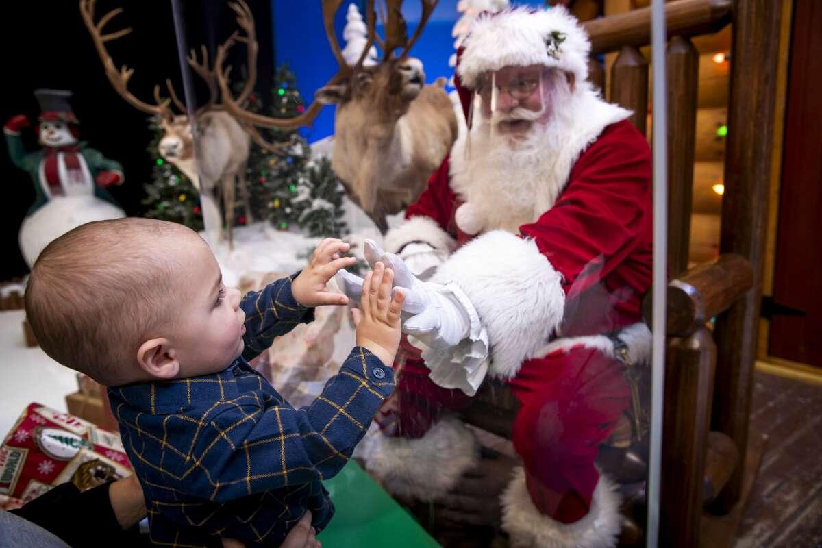 Santa's Wonderland at Bass Pro Shops in Bridgeport during the 2020 holiday season. Bass Pro Shops in Bridgeport reimagined its Santa's Wonderland with Santa sitting behind his