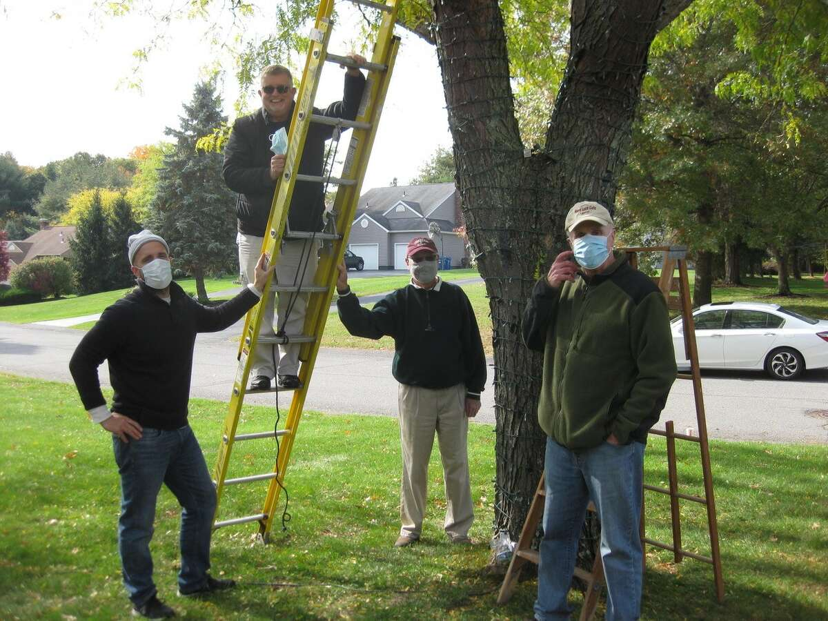 Lighting up Chesterfield Drive is a community effort. Resident Diane Reilly writes: Our neighborhood started in October pulling together to do something special out here in Weatherfield (Voorheesville). Ed and Kate McCormick led an effort to decorate older folks' trees up and down the street.