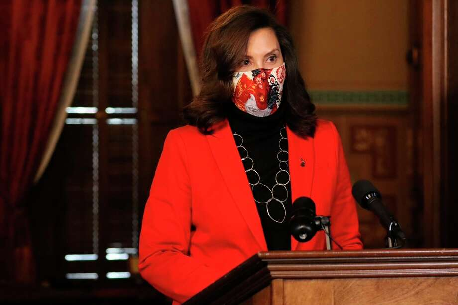 Gov. Gretchen Whitmer told the residents during a press conference Dec. 15 that the state was headed in the right direction with its COVID stats. (State of Michigan/Courtesy Photo)
