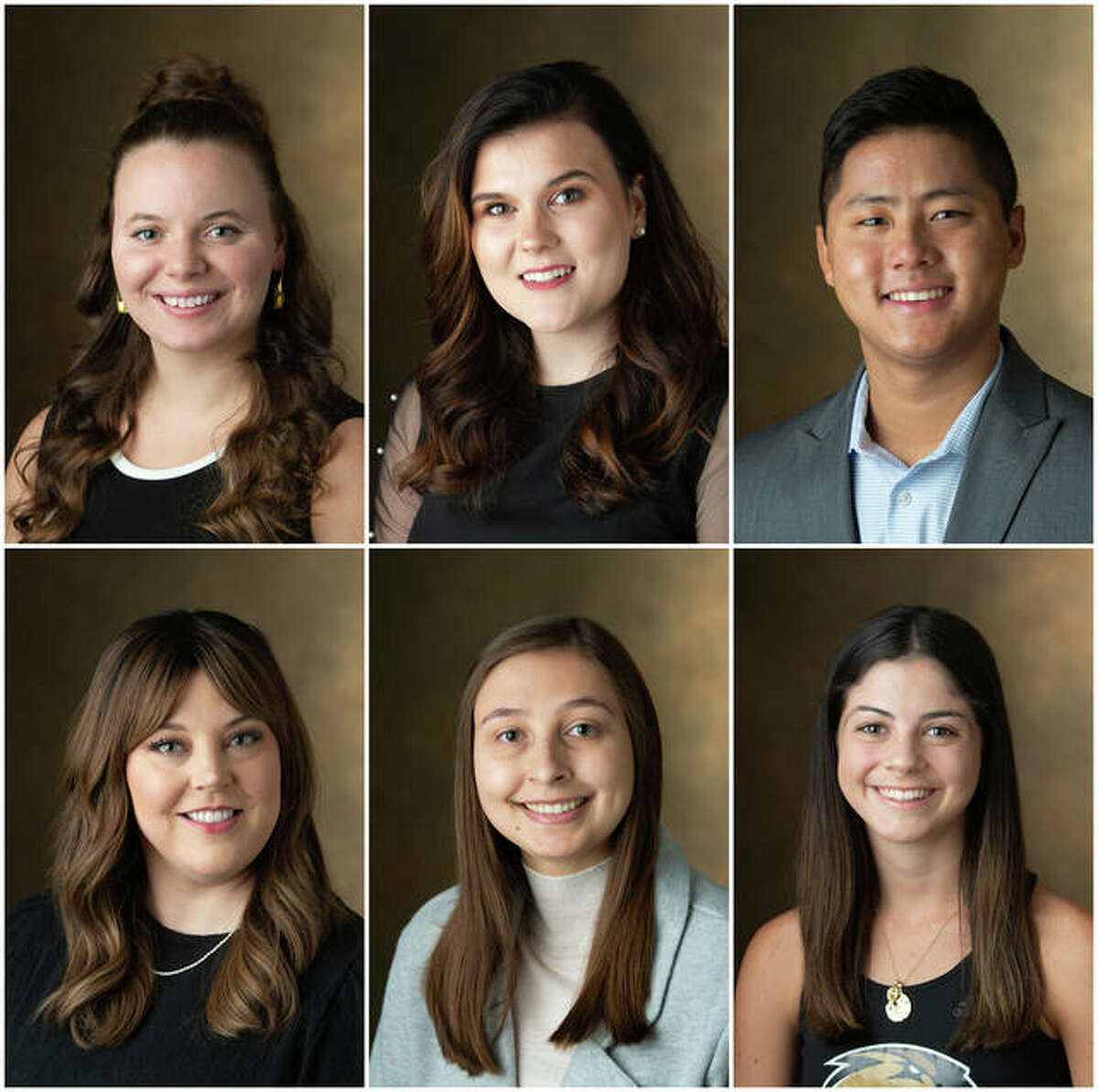 Photo (L-R): Top Row - Cassidy Bruns, Paulina Fuhrmann and Matthew Gregor. Bottom Row - Caitlin Phelan, Ashley Spain and Laura Tupper.