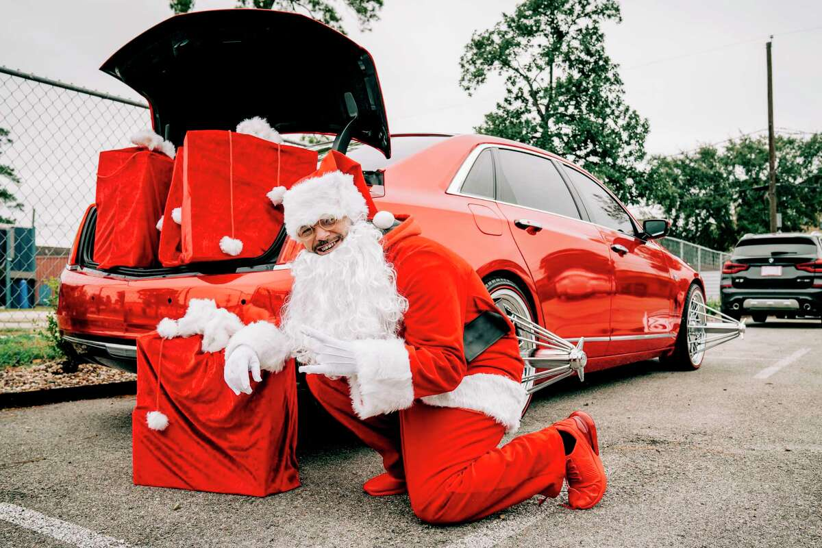 Paul Wall dressed up as Santa Claus - although he called himself