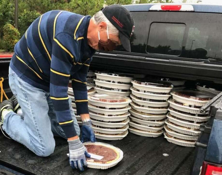 Volunteers with Keep Us Fed Montgomery County picked over 4,800 pounds of pies, cakes and cookies from Costco following Thanksgiving. The goodies were distributed to five different partner organization across the county. Photo: Courtesy Photo