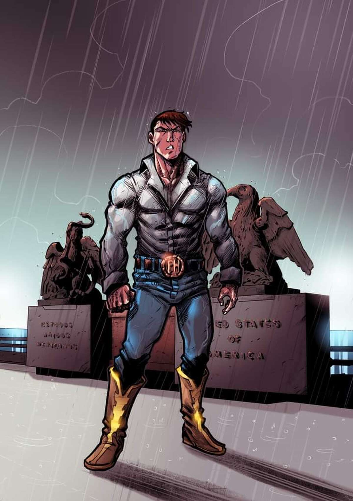 Artwork from Rodriguez's comic book