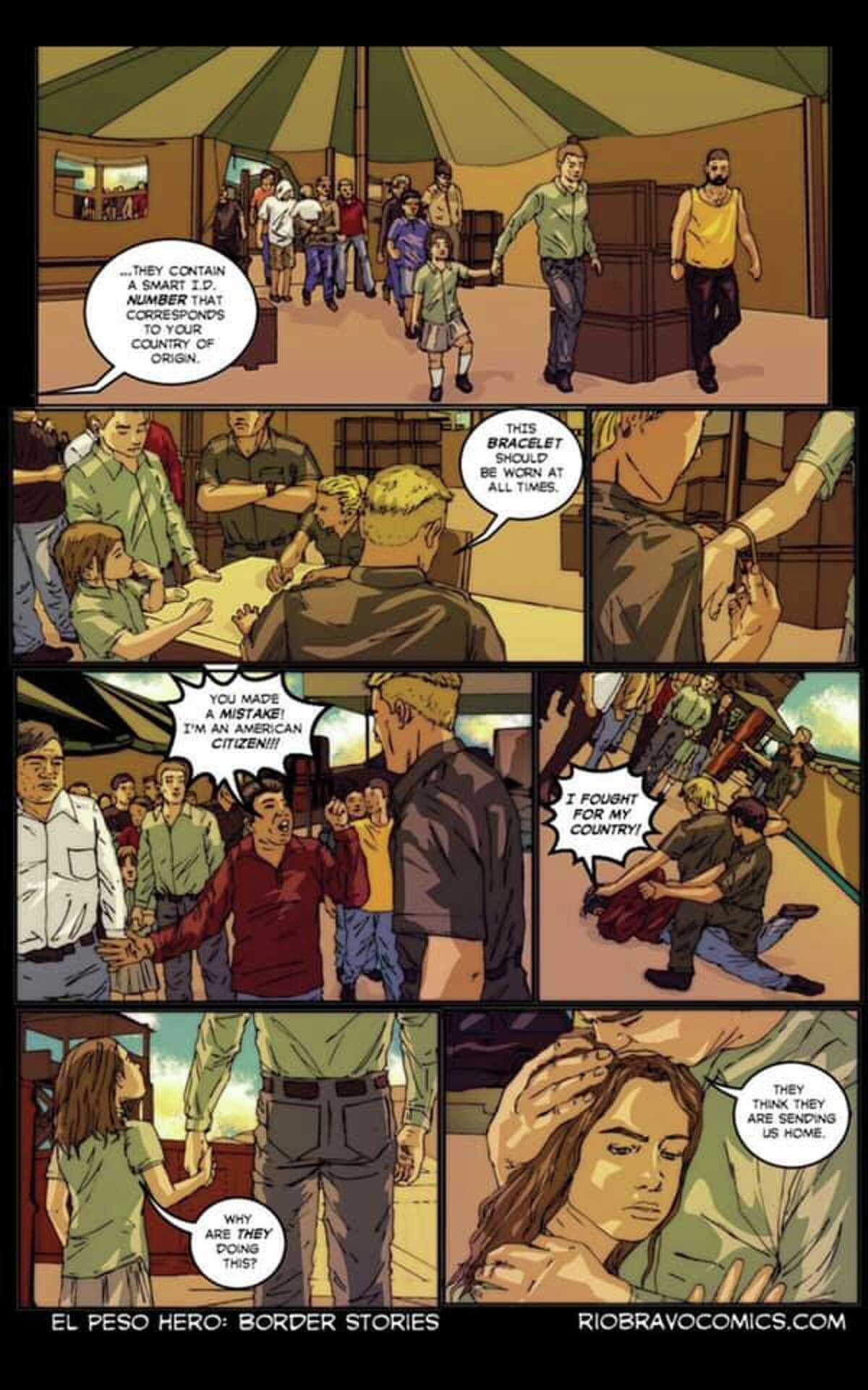 A scene from the comic book series.