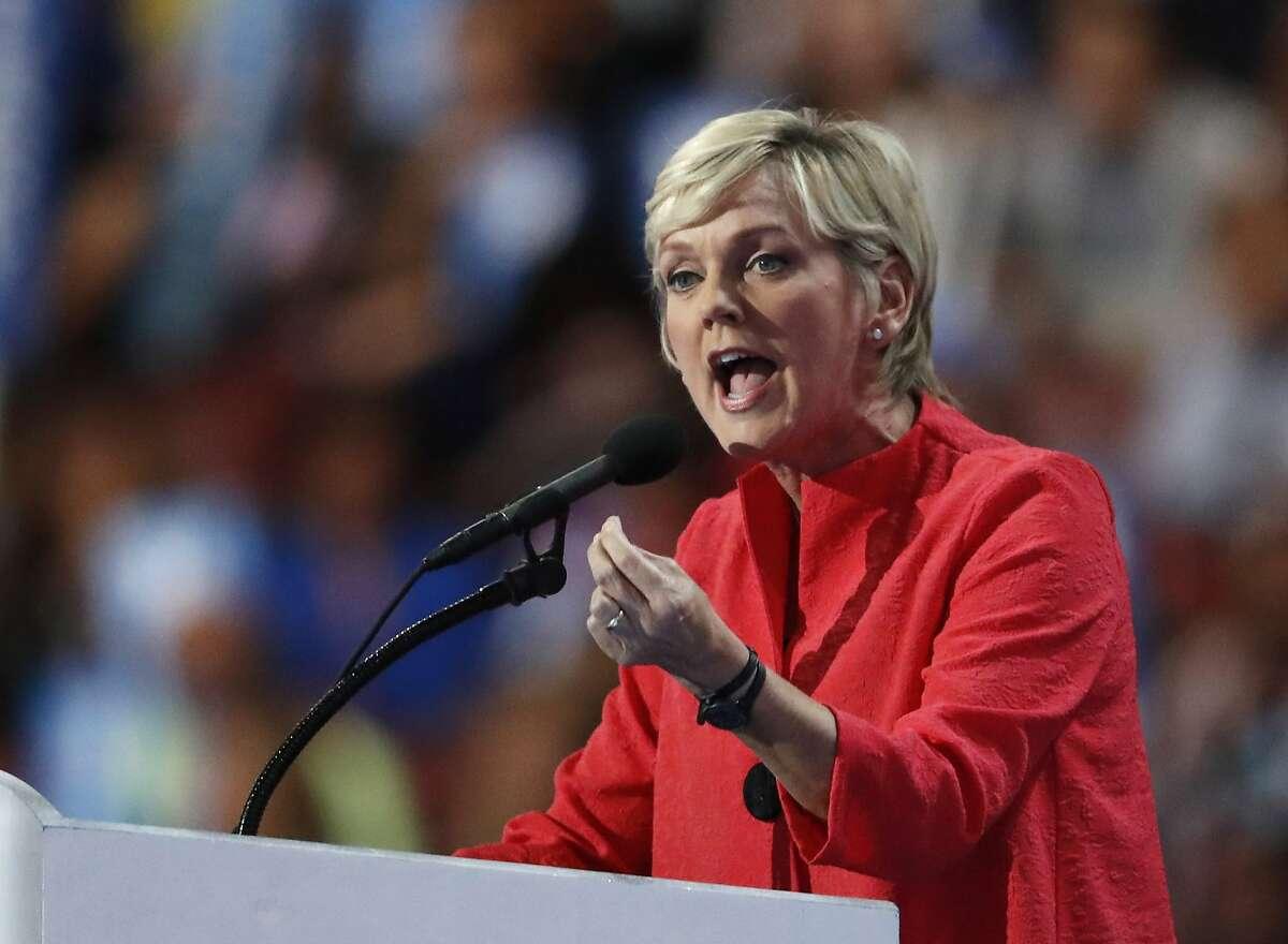 Former Michigan Gov. Jennifer Granholm speaks at the Democratic National Convention in Philadelphia on July 28, 2016.