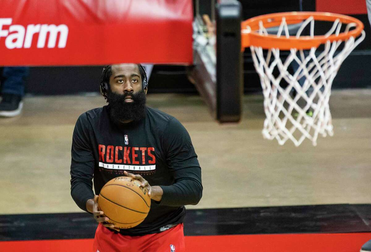 James Harden made his preseason debut in Tuesday's win over the Spurs at Toyota Center.