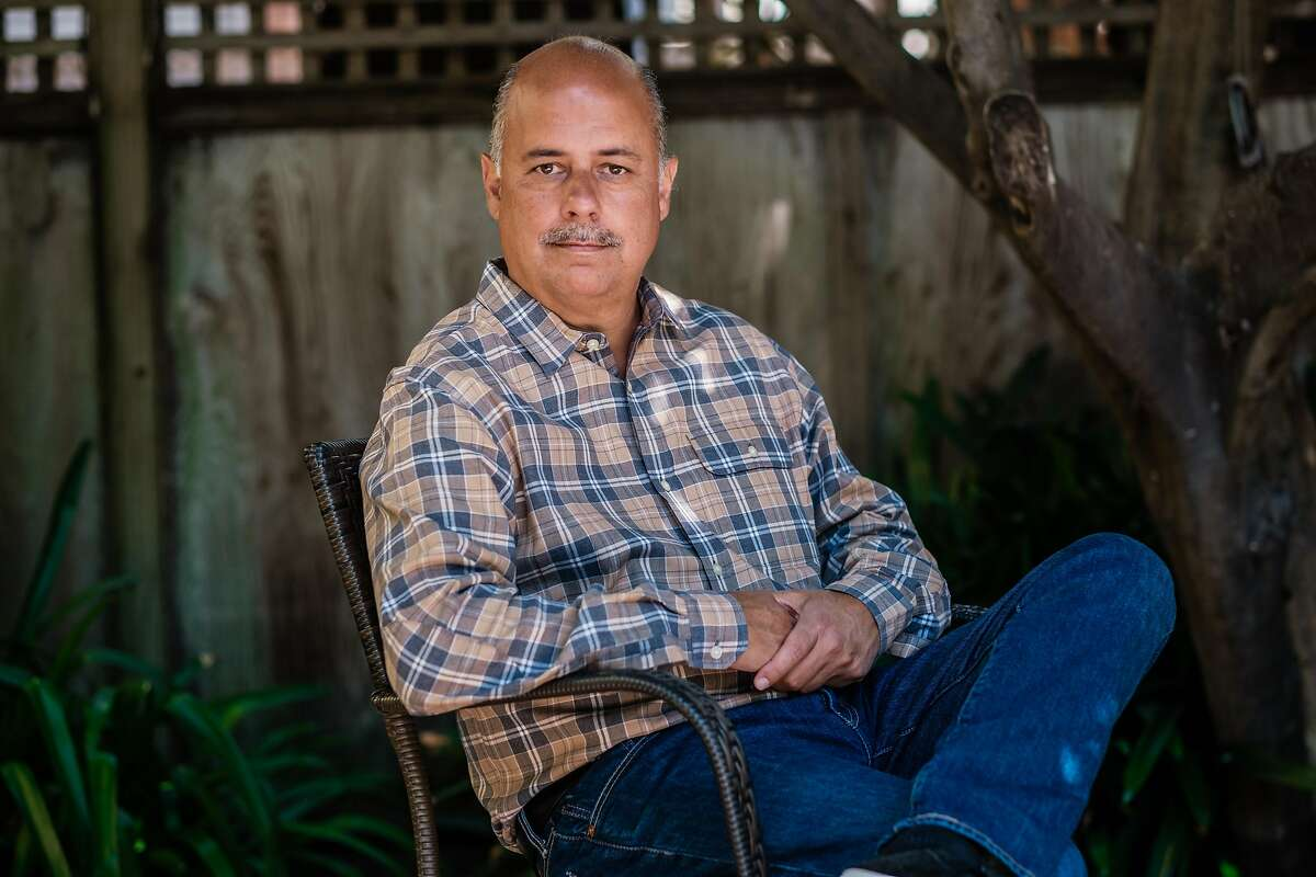 San Francisco School Board President Mark Sanchez poses for a photograph at his home in San Francisco on Tuesday, July 14, 2020.