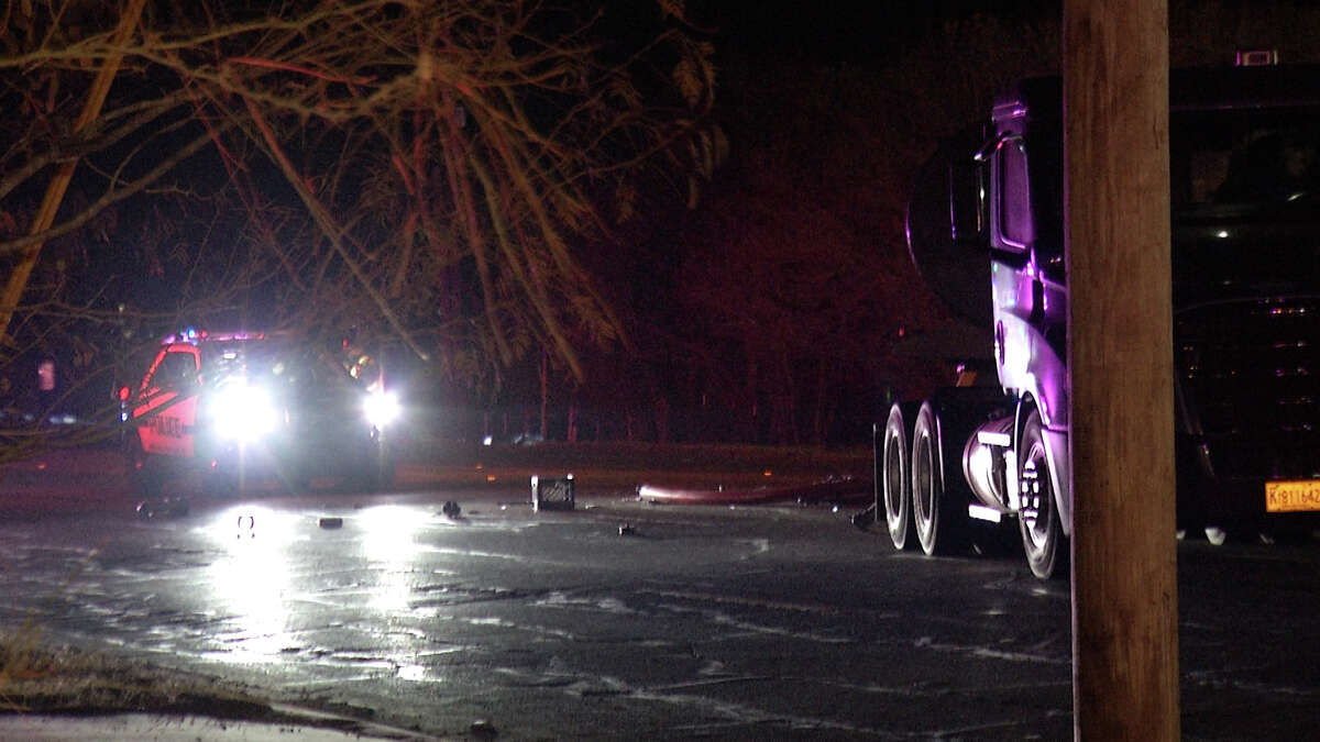 A 44-year-old man died after his vehicle hit an 18-wheeler on the South Side Wednesday morning.