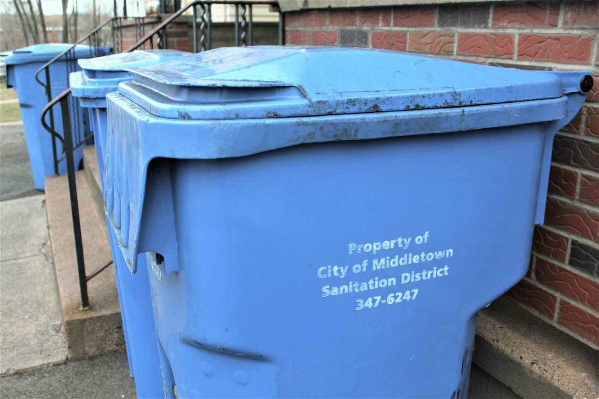 Recycling bins in Middletown