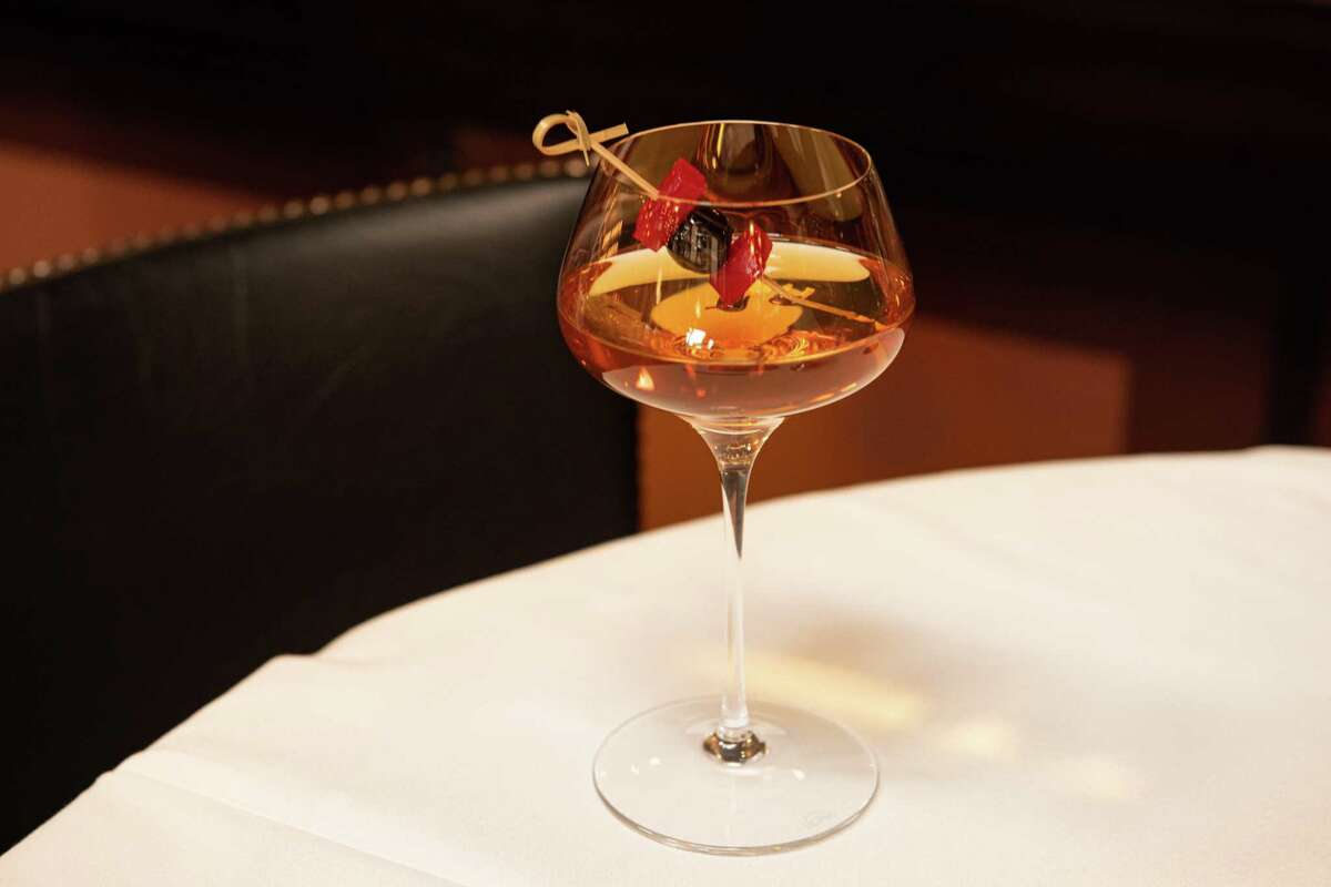 Christmas in Kentucky is a holiday cocktail made with bourbon from Pappas Bros. Steakhouse.