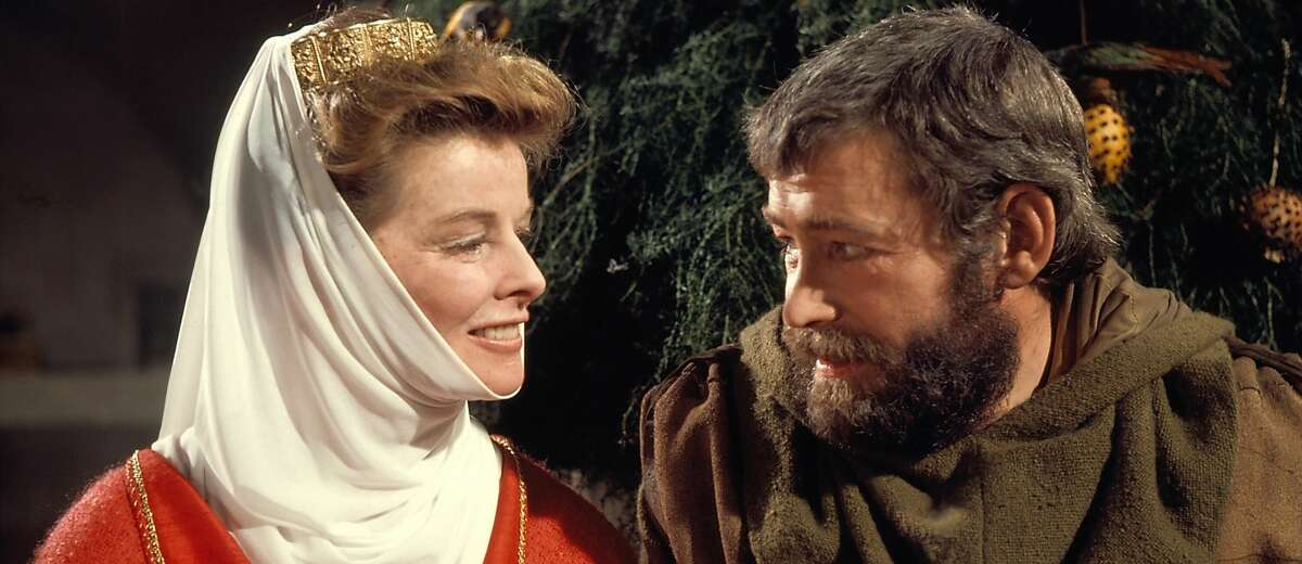 Katharine Hepburn and Peter O'Toole in