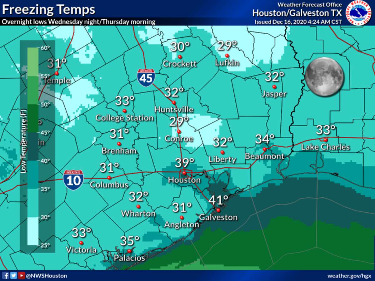 Here's what temperatures will be like overnight Wednesday.
