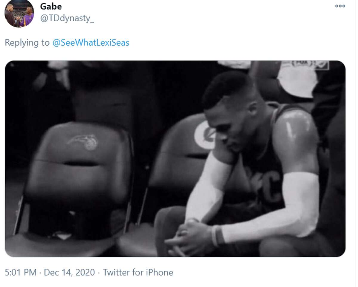 Another fan tweeted a picture of a sad Russell Westbrook to portray how the photo made him feel.