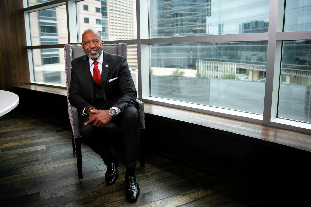 Physician, astronaut and venture capitalist Dr. Bernard A. Harris Jr. photographed in the TMC executive office building on Monday, Nov. 23, 2020. Harris was appointed vice chair of the Texas Medical Center Board of Directors in October.