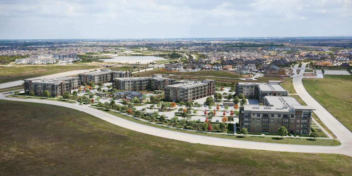 Starling at Bridgeland, a 358-unit apartment project at Bridgeland Creek Parkway and Bridgeland High School Drive, will open by summer 2022.